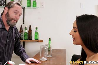 Eliza Ibarra Gets Creampied By A BBC - Gloryhole