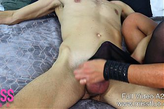 MF - MILF in Stockings Gives Edging Handjob A200S